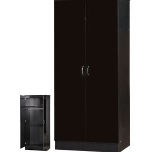 Black Two Tone 2 Door Double Wardrobe Standard - LM Furnishings