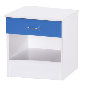 Blue & White Bedside Cabinet - LM Furnishings