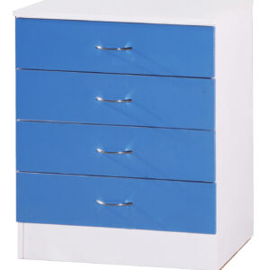 Blue & White Chest of 4 Drawers - LM Furnishings