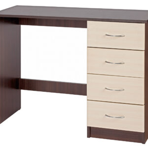 Crème Supreme & Dark Walnut Dressing Table - LM Furnishings