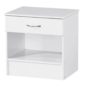 White Two Tone Bedside Cabinet - LM Furnishings