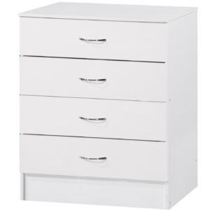 White Two Tone Chest of 4 Drawers - LM Furnishings