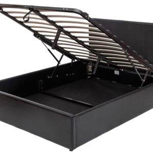 Black 4ft6 Ottoman Bed - LM Furnishings