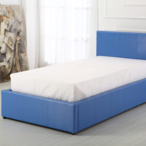 Blue 3ft Ottoman Bed - LM Furnishings