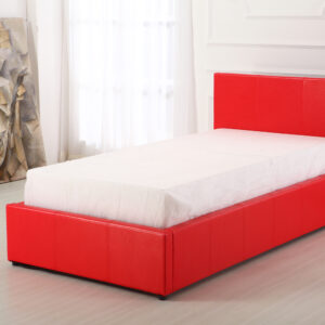Red 3ft Ottoman Bed - LM Furnishings