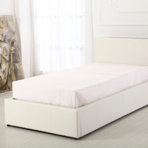 White 3ft Ottoman Bed - LM Furnishings