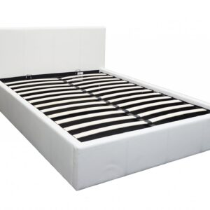 White 4ft6 Ottoman Bed - LM Furnishings