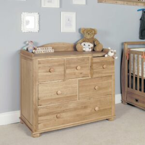 Amelie Oak Changer / Chest of Drawers - LM Furnishings