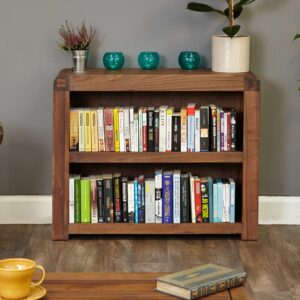 Shiro Walnut Low Bookcase - LM Furnishings