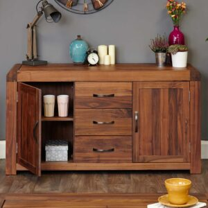 Shiro Walnut Large Sideboard - LM Furnishings