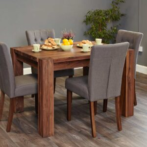 Walnut Dining Table (4 Seater) - LM Furnishings