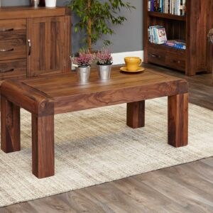 Shiro Walnut Medium Open Coffee Table - LM Furnishings