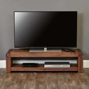 Shiro Walnut Low TV Cabinet - LM Furnishings