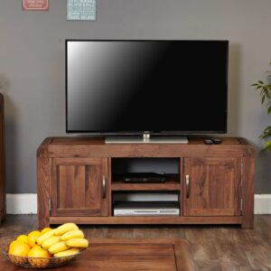 Shiro Walnut Widescreen Television Cabinet - LM Furnishings