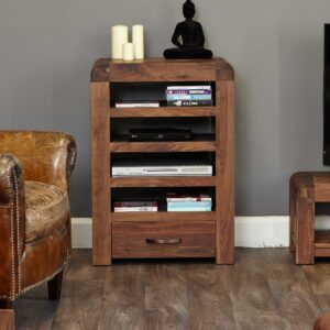 Shiro Walnut Entertainment Unit - LM Furnishings