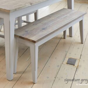 Baumhaus Signature Grey Dining Bench (130) - LM Furnishings