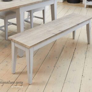 Baumhaus Signature Grey Dining Bench (150) - LM Furnishings