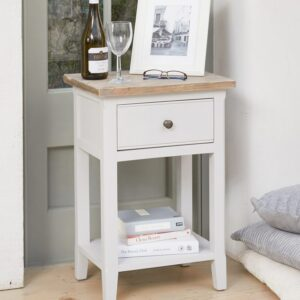 Baumhaus Signature Grey One Drawer Lamp Table - LM Furnishings