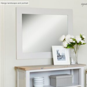 Baumhaus Signature Grey Overmantle Mirror (Hangs Landscape & Portrait) - LM Furnishings