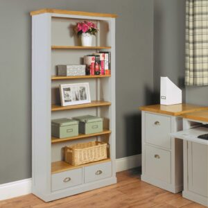Chadwick Large Bookcase With Two Drawers - LM Furnishings