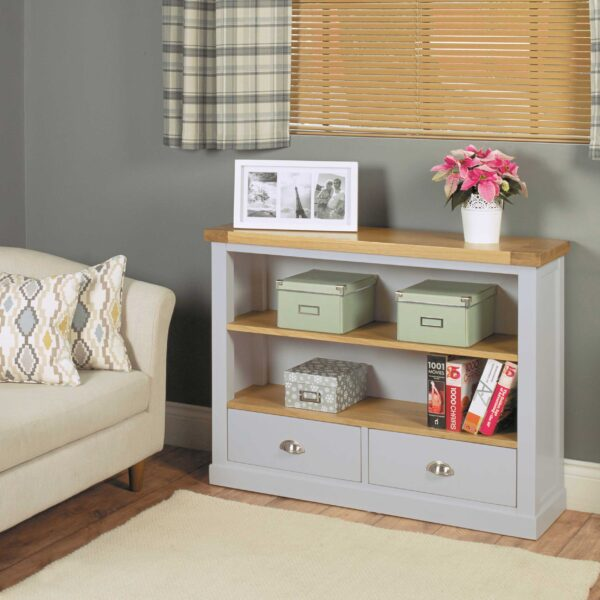 Chadwick Low Bookcase With Two Drawers - LM Furnishings