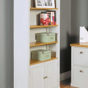Chadwick Large Bookcase With Cupboard - LM Furnishings