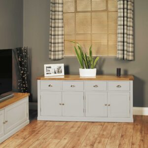 Chadwick Large Sideboard With Four Drawers & Doors - LM Furnishings