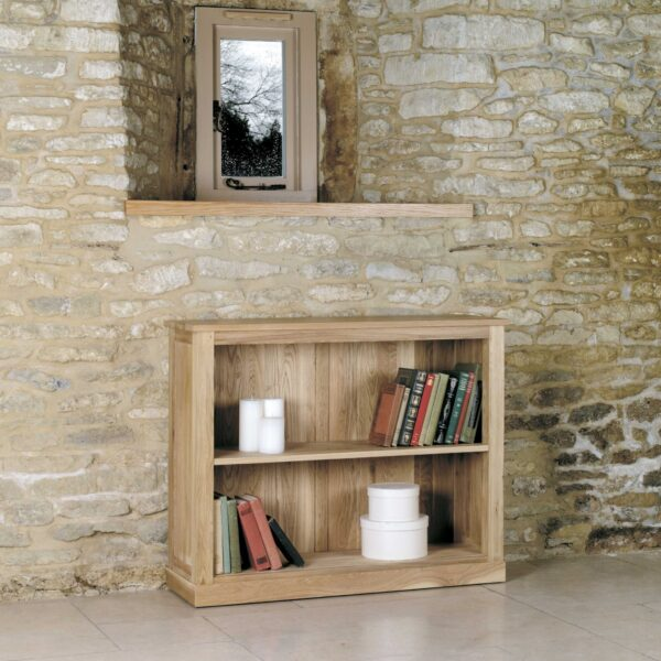 Mobel Oak Low Bookcase - LM Furnishings