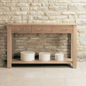 Mobel Oak Console Table - LM Furnishings