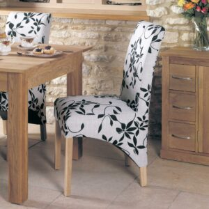 Oak Upholstered Dining Chair (Pack Of Two) - LM Furnishings