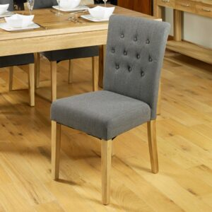 Flare back Upholstered Dining Chair  (PACK OF TWO) - LM Furnishings
