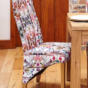 Oak Full Back Upholstered Dining Chair - Modena (Pack of Two) - LM Furnishings
