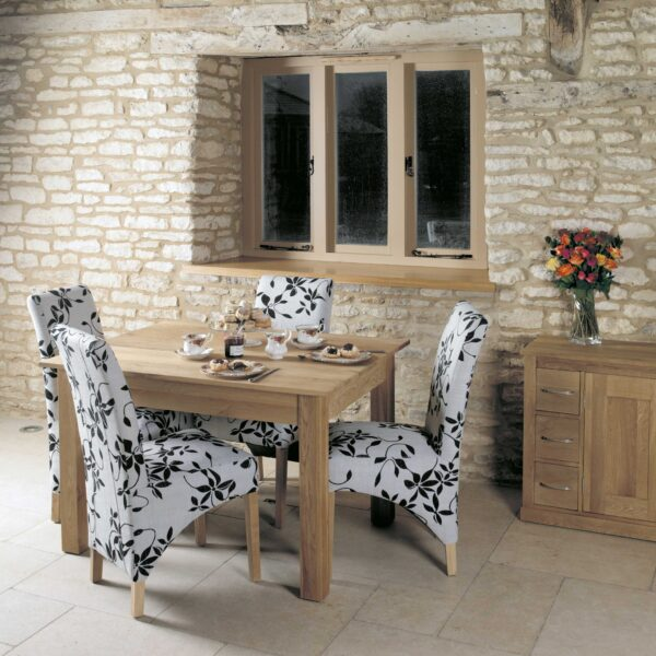 Mobel Oak Dining Table (4 Seater) - LM Furnishings