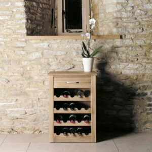 Mobel Oak Wine Rack Lamp Table - LM Furnishings