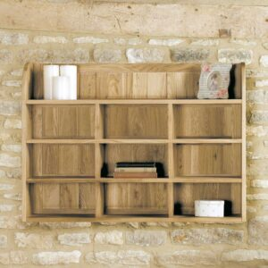 Mobel Oak Reversible Wall Rack - LM Furnishings