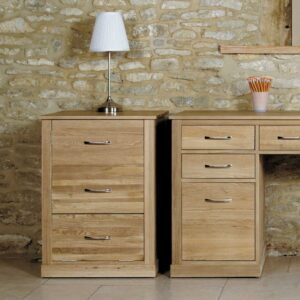 Mobel Oak Printer Cupboard - LM Furnishings