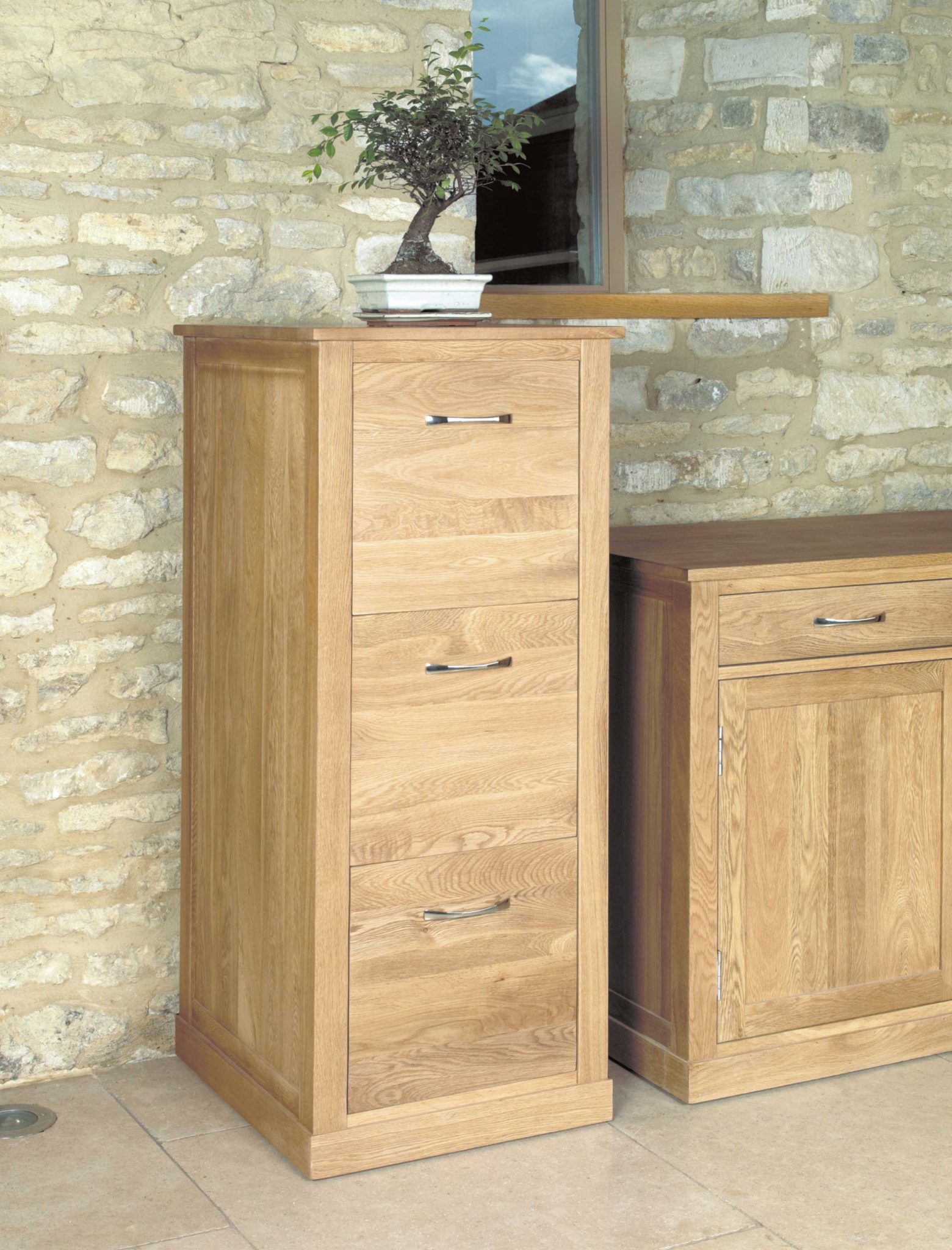 mobel oak 3 drawer filing cabinet lm furnishings