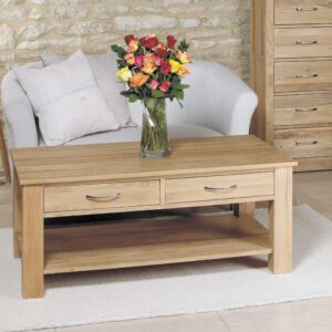 Mobel Oak Four Drawer Coffee Table - LM Furnishings