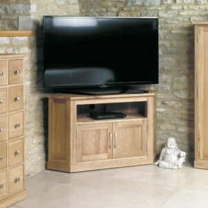 Mobel Oak Corner Television Cabinet - LM Furnishings