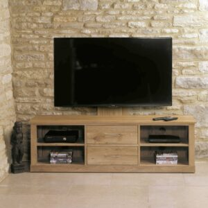 Mobel Oak Mounted Widescreen Television Cabinet - LM Furnishings