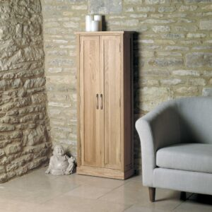 Mobel Oak DVD Storage Cupboard - LM Furnishings