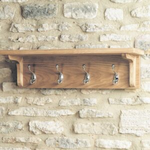 Mobel Oak Wall Mounted Coat Rack - LM Furnishings