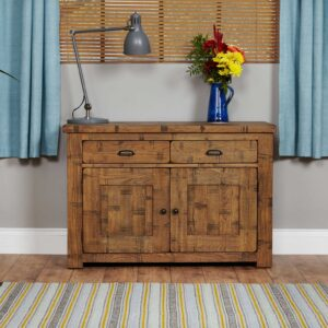 Heyford Rough Sawn Oak Small Sideboard - LM Furnishings