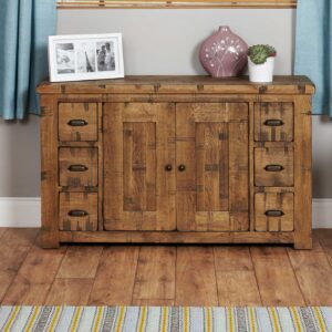 Heyford Rough Sawn Oak Six Drawer Sideboard - LM Furnishings