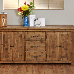 Heyford Rough Sawn Oak Large Sideboard - LM Furnishings