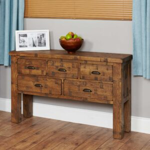 Heyford Rough Sawn Oak Console Table - LM Furnishings