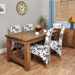 Heyford Rough Sawn Oak Dining Table (4 Seater) - LM Furnishings