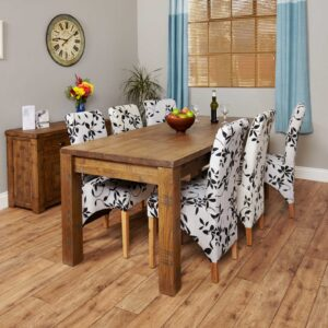 Heyford Rough Sawn Oak Extending Dining Table (Seats 4-8) - LM Furnishings