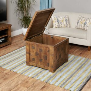 Heyford Rough Sawn Oak Coffee Trunk - LM Furnishings