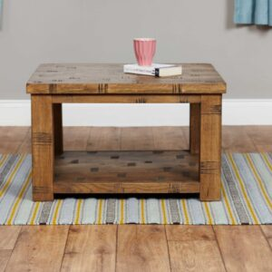 Heyford Rough Sawn Oak Open Coffee Table - LM Furnishings